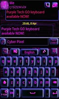 Screenshot of GO Keyboard Purple Tech