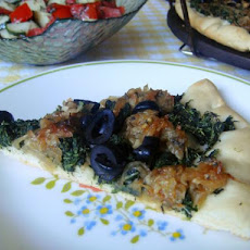 Clean Eating Pissaladiere With Spinach