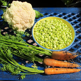 Home Grown by Julie Kendall - Food & Drink Fruits & Vegetables ( home grown, cork, ireland, vegetables, crop, newmarket, cauliflower, fresh, summer, carrots, harvest, broad beans, produce,  )