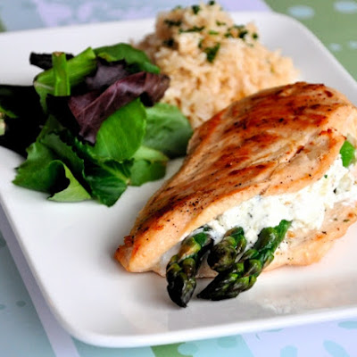 Asparagus & Goat Cheese Stuffed Chicken