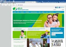 Screenshot of BPJS Ketenagakerjaan Website