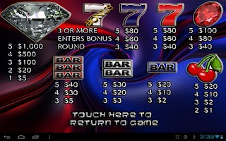 Screenshot of 7's & BAR Vegas Slot Machine