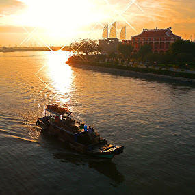 Morning on Saigon River by Kiên Lâm - Landscapes Sunsets & Sunrises