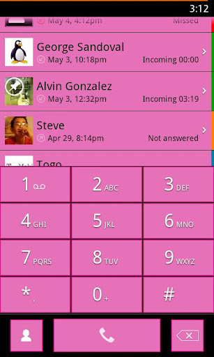 exDialer Pink WP7 Theme