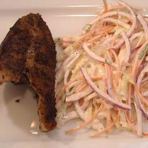West Indian fried snapper with celeriac coleslaw