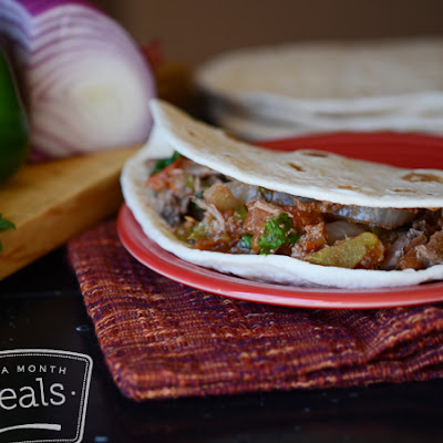 Slow Cooker Beef Burritos