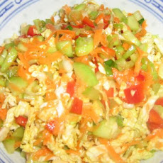 Low Fat Asian Style Coleslaw for Two