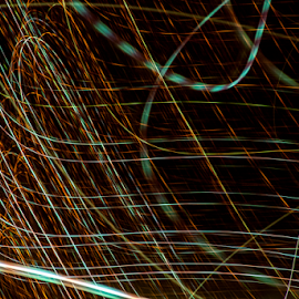 String Theory by Clark - Worthington - Abstract Light Painting ( background, string, light )