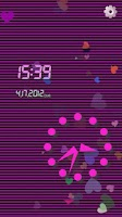 Screenshot of [Free]Heart Flow! Custom Clock