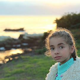 Grace by Sean Haley - Babies & Children Children Candids ( winter, girl, seascape, canon eos, ocean view )