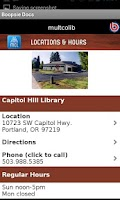 Screenshot of Multnomah County Library