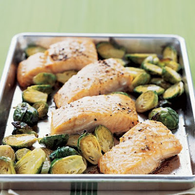 Roasted Salmon with Brussels Sprouts