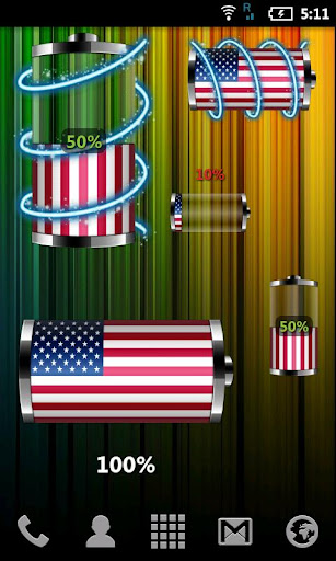 USA: Flag Battery Widget