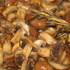 Glazed Rosemary Honey Mushrooms