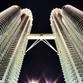Petronas towers by Leon Chester - Buildings & Architecture Public & Historical ( petronas twin towers, night photography, buildings, night shot, kuala lumpur )