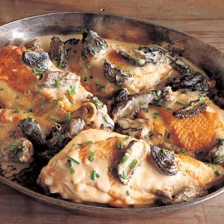 Chicken Fricassee with Morel Mushrooms and Thyme