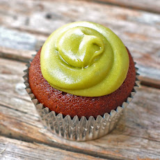 Milk Chocolate Cupcakes with Avocado Buttercream