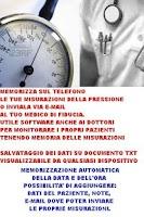 Screenshot of pressione sfigmomanometro
