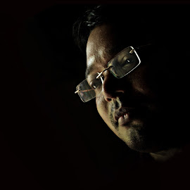 cornered vision by Arnab Bhattacharyya - People Portraits of Men