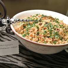 Mediterranean Roasted Vegetable Israeli Couscous