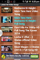 Screenshot of Latest Video HD Songs( FREE)
