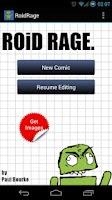 Screenshot of RoidRage Comic Maker