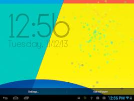 Screenshot of Nexus 5 KitKat - Digital Clock