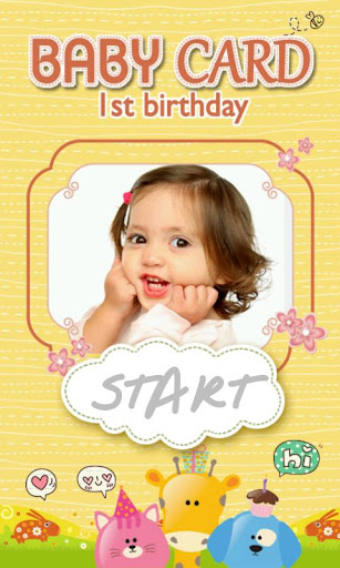 Baby birthday Invitation Cards