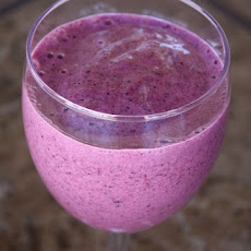 Blueberry Strawberry Smoothie with Chia Seeds