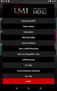 LMI Mobile Sales Pitch Kit - screenshot