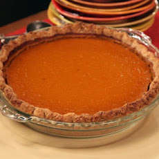 Kabocha Squash Pie with Spiced Crust