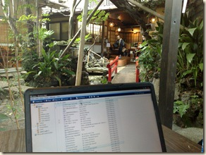 Working hard at the Kangetsu ryokan