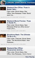 Screenshot of Coming Soon Movie Previews!