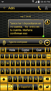 THEME FOR GO SMS BLACK GOLD - screenshot