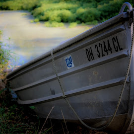 Dream of lazy day fishing by Susan M - Novices Only Objects & Still Life ( boating, fishing, boat, pond,  )