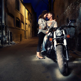 The Last Good Bye by Dustin Olsen - People Couples ( love, ally, motorcycle )