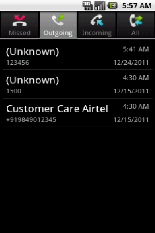 My Call Log