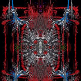 Face of a devil by Linda Tribuli - Digital Art Abstract ( abstract digital art )