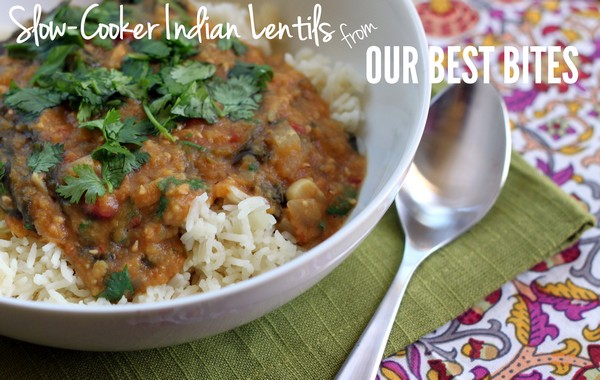 Slow-Cooker Indian-Spiced Lentils Recipe | Yummly