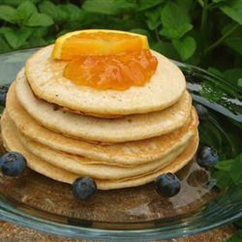 Orange Whole Wheat Pancakes