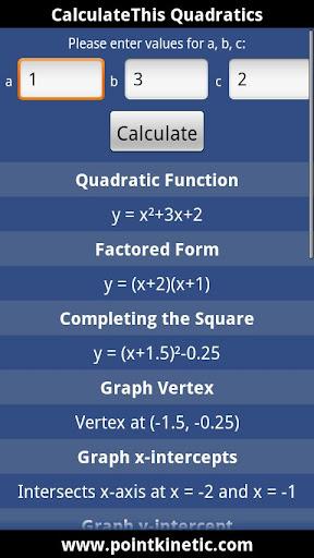 CalculateThis Quadratics
