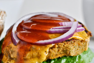 Easy and Delicious BBQ Cheddar Chickpea Burgers Recipe by Makeeze Recipes