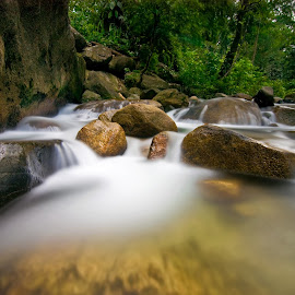 Sekayu Waterfall, MY by Fiziey Shaidi - Landscapes Waterscapes ( lee filters, haida, terengganu, malaysia, 11-16mm, nikon, sekayu, tokina, 10 stop )