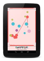 Screenshot of Swipe Off : a moving Dots Game