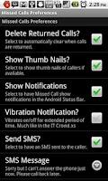 Screenshot of Missed Calls Pro