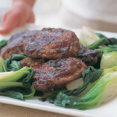 Braised Soy-Ginger Chicken & Bok Choy