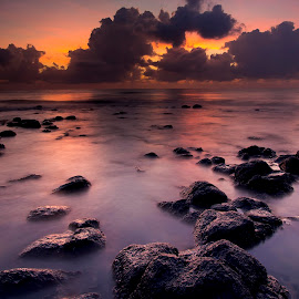SUNSET  by Apeg Ming - Landscapes Beaches