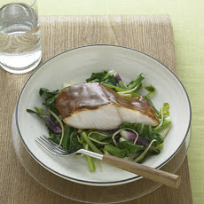 Hoisin-Glazed Black Cod with Bok Choy