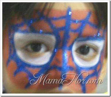 Maquillaje para niños: Antifaz del Hombre araña (Parte II)