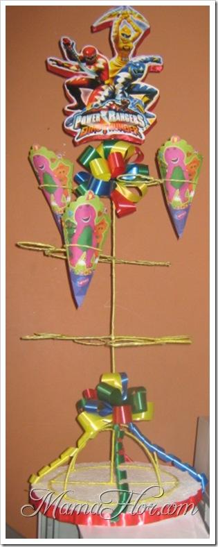 Porta Pop-corn para fiesta infantil de Power Rangers!